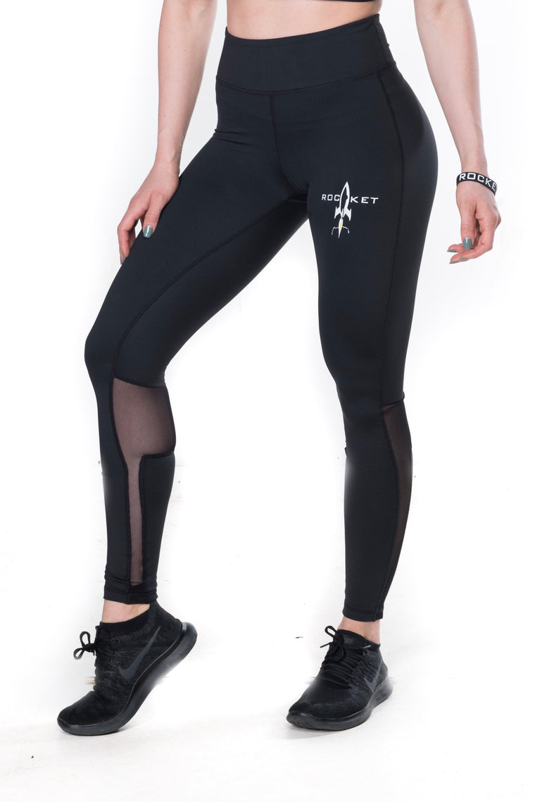 Women's Pro Art Mesh Leggings - Black (Plus Sizes Available)