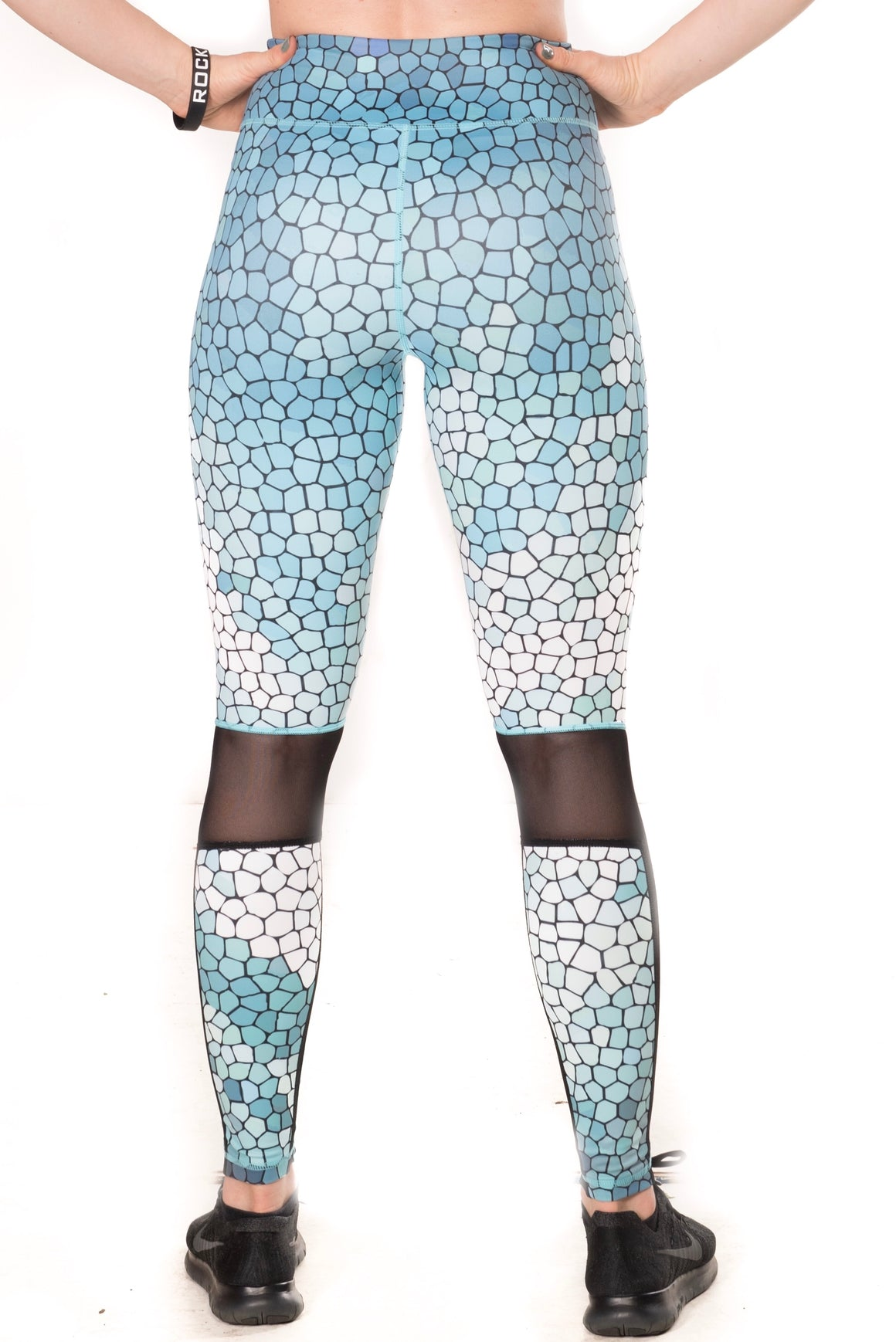 Women's Pro Art Mesh Leggings - Blue