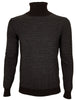 Melar turtleneck, grey / brown