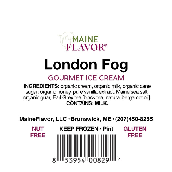 Ice Cream Pint   GF   London Fog