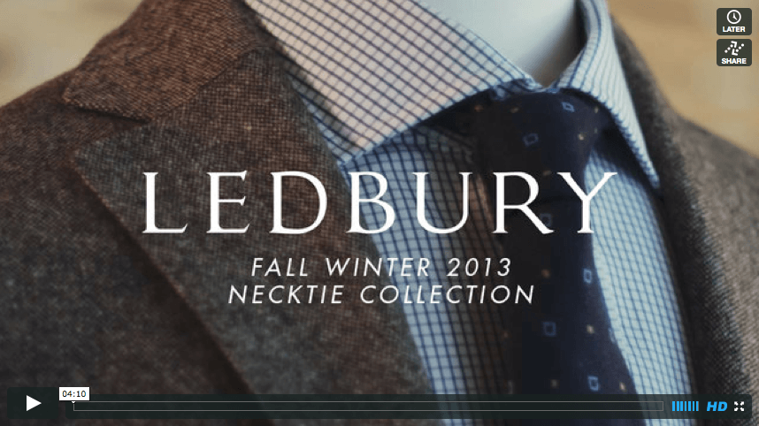 Video // Fall Winter 2013 Necktie Collection