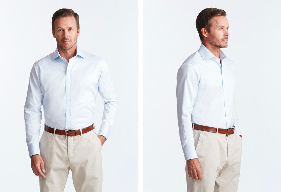 Fit guide find your perfect fit ledbury for Dress shirt vs casual shirt