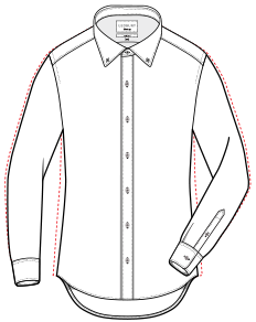 Slim shirt detail