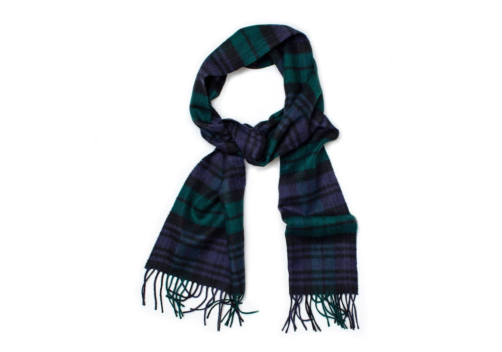 The Navy Merino Blackwatch Scarf Scarf- Ledbury