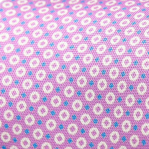 The Thistle Arcadian Print Tie | Pink Dots | Ledbury Men's Accessories