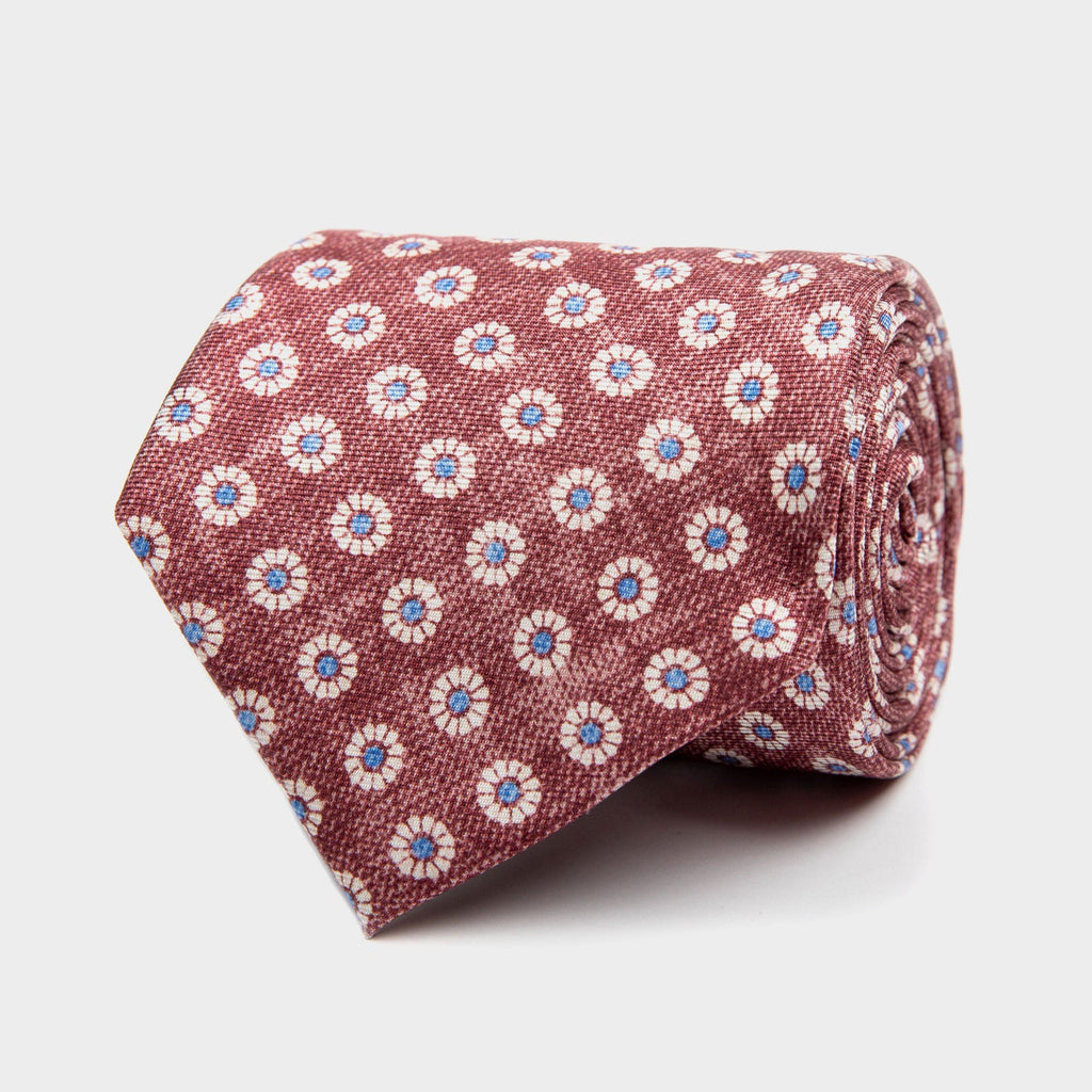 The Wine Brimley Print Tie Tie- Ledbury