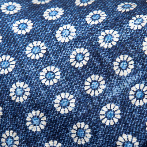 The Blue Brimley Print Tie