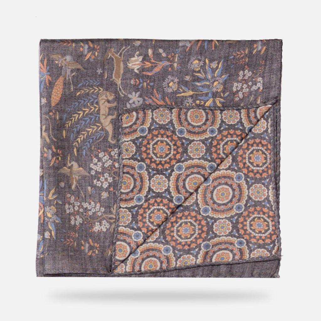 The Sage Macomb Print Pocket Square Pocket Square- Ledbury