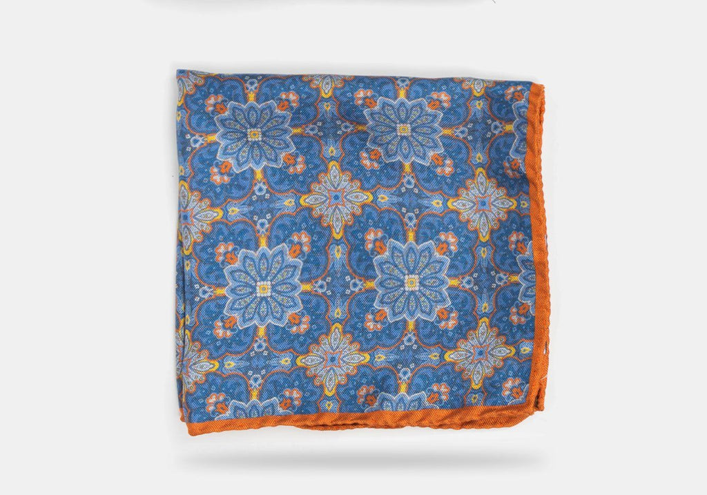 The Autumn Orange Keyser Print Pocket Square Pocket Square- Ledbury