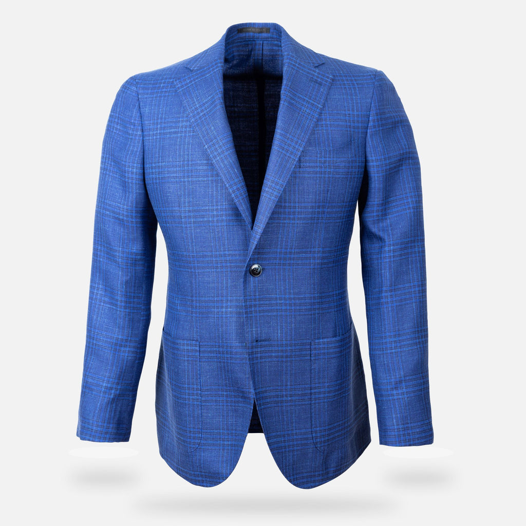 The Blue Mountfort Check Sport Coat Blazer- Ledbury
