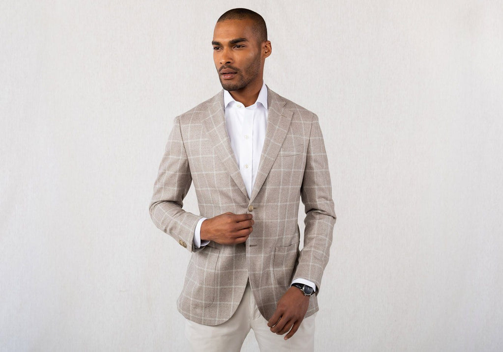 The Stone Kingstowne Windowpane Sport Coat Blazer- Ledbury