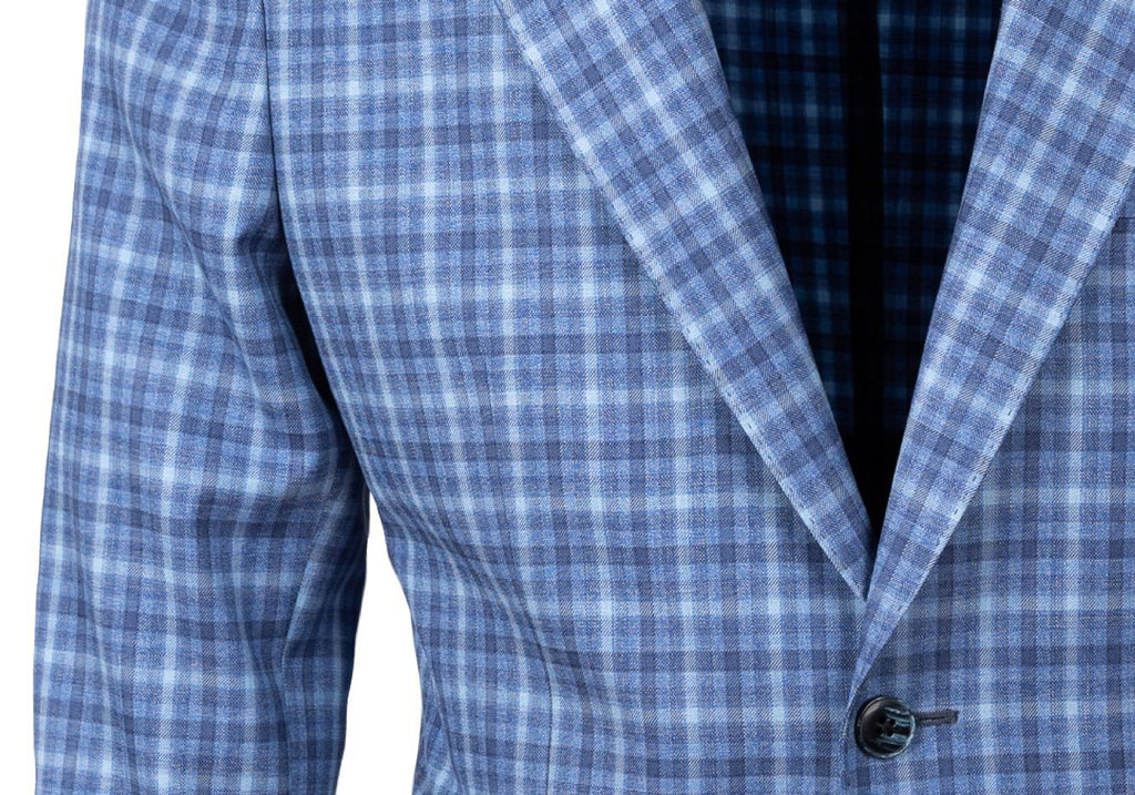 The Blue Nash Check Sport Coat Blazer- Ledbury