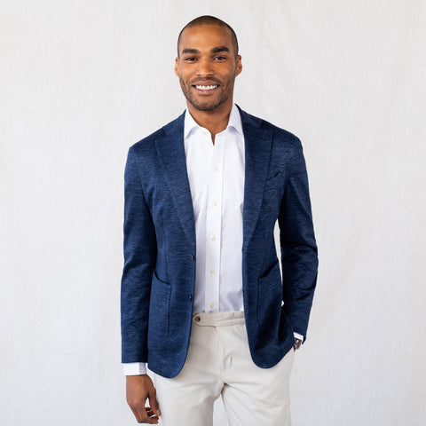 The Dark Blue Upham Knit Sport Coat