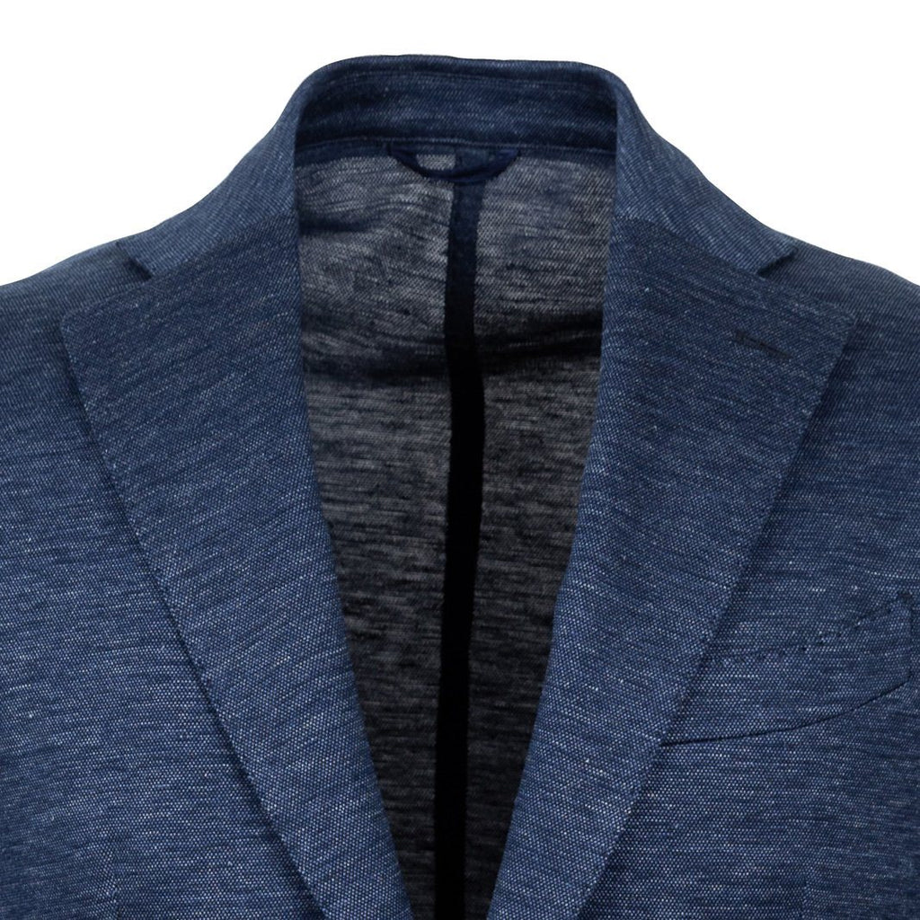 The Dark Blue Upham Knit Sport Coat Blazer- Ledbury