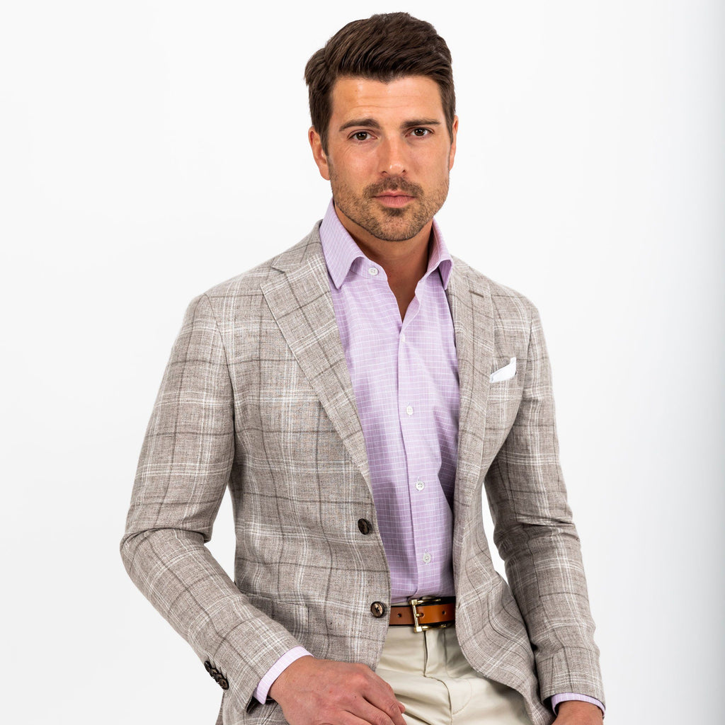 The Khaki Seely Check Sport Coat Blazer- Ledbury