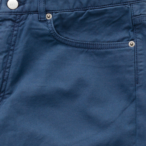 The Airforce Blue Franklin 5 Pocket Washed Twill Pant