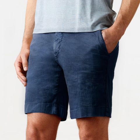 The Navy Richmond Washed Twill Short