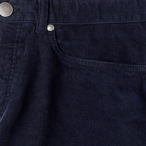 The Navy Franklin 5 Pocket Cord Pant | Ledbury Men's Pants