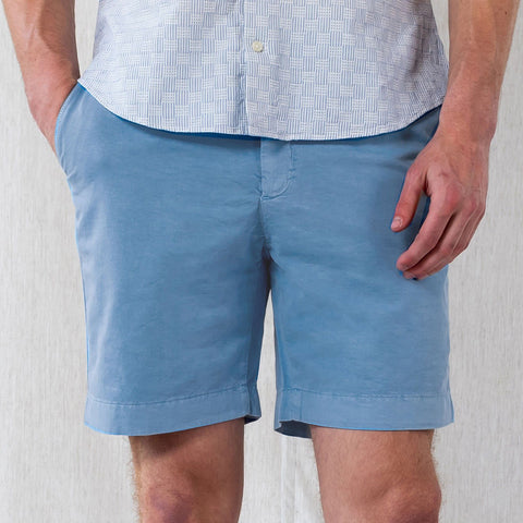 The Aegean Blue Richmond Washed Twill Short