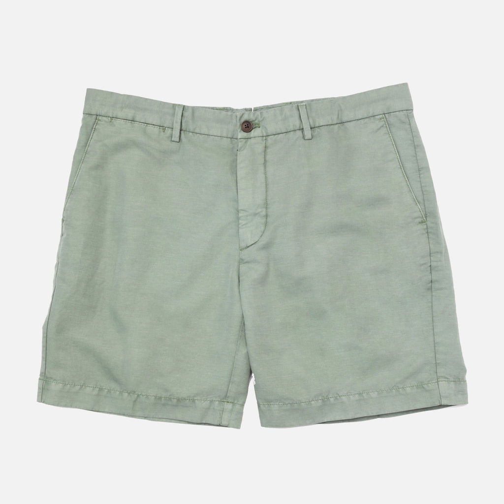 The Sage Richmond Washed Twill Short Shorts- Ledbury