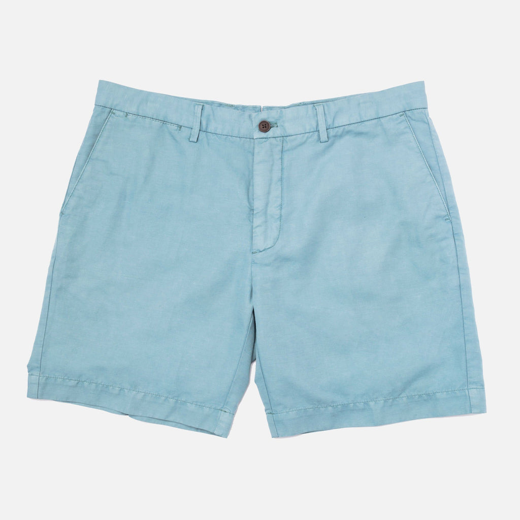 The Sea Green Richmond Washed Twill Short Shorts- Ledbury