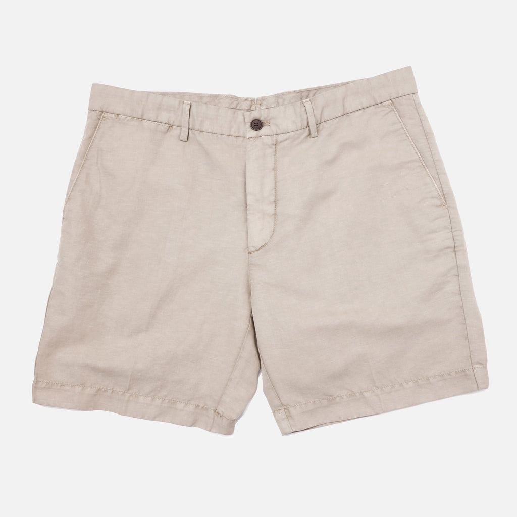 The Khaki Richmond Washed Twill Short Shorts- Ledbury