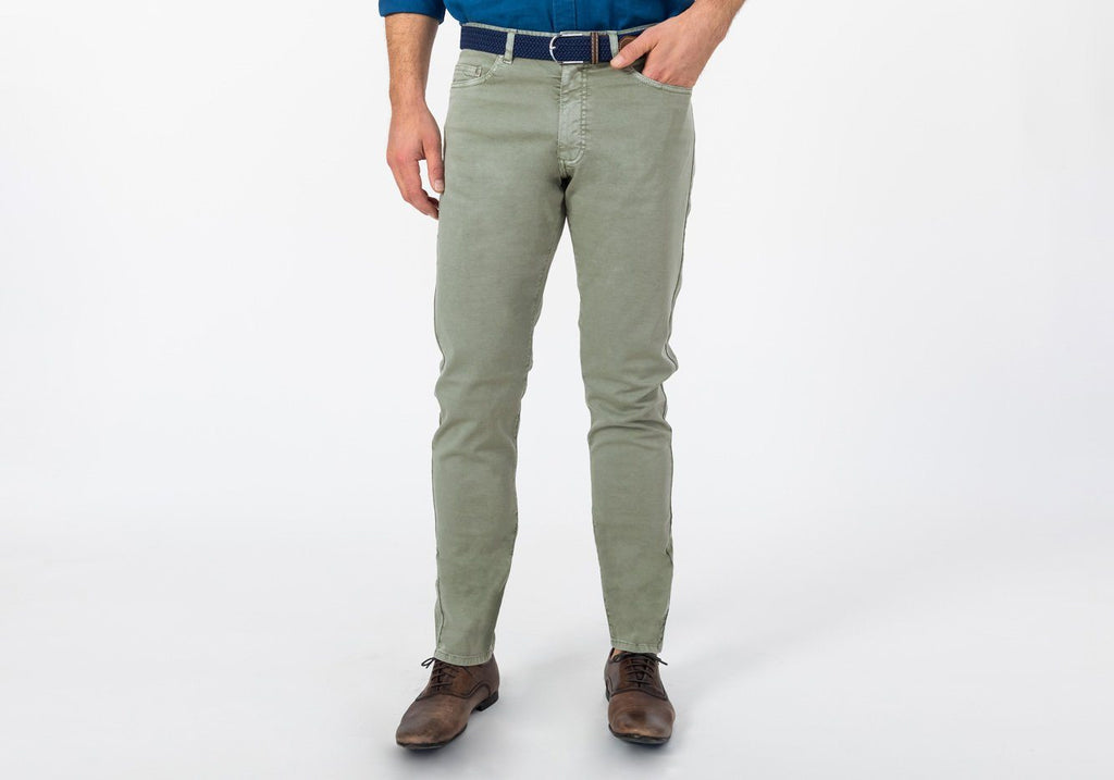 The Sage Franklin Canvas Stretch Pant Pants- Ledbury