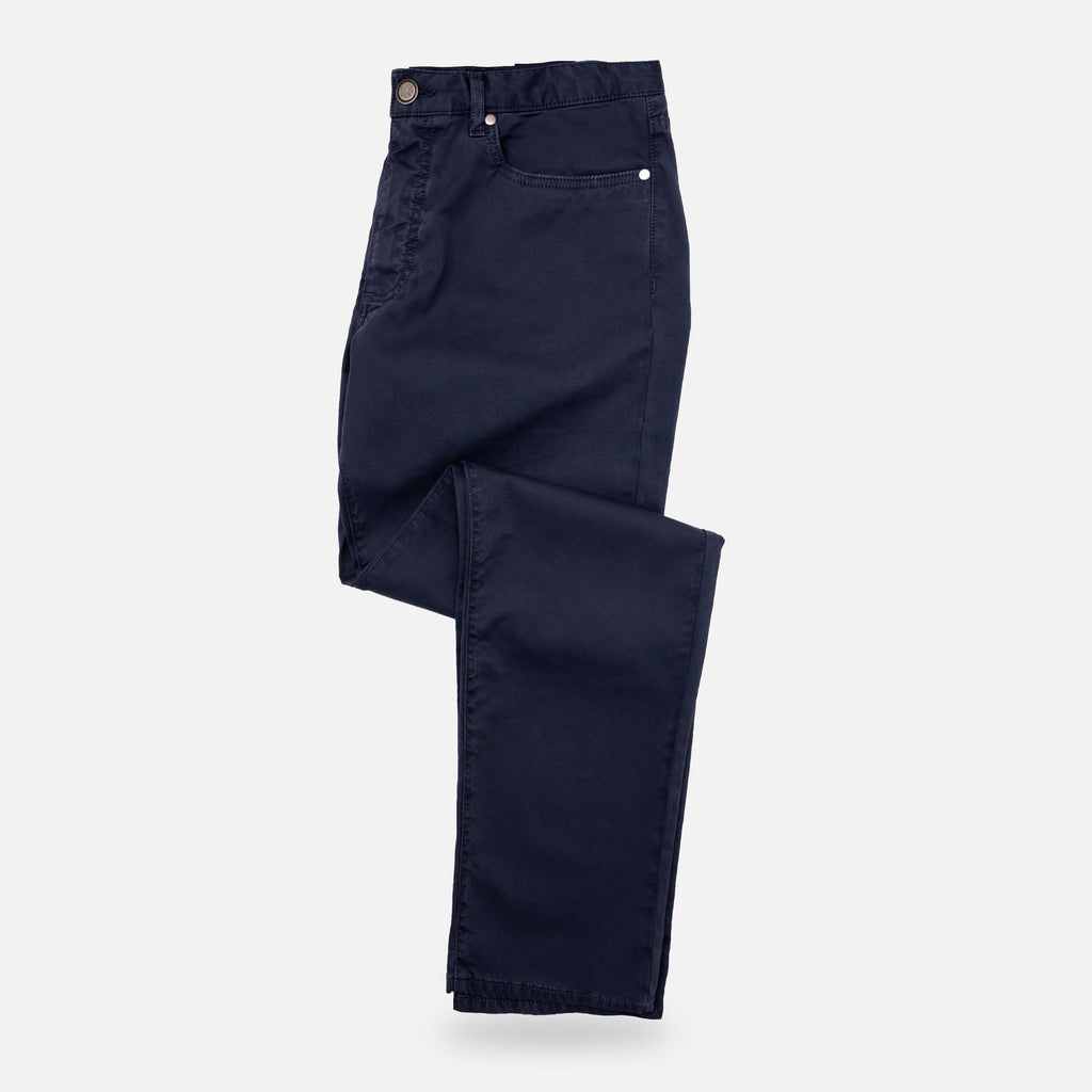 The Airforce Blue Franklin Bedford Stretch Pant Pants- Ledbury