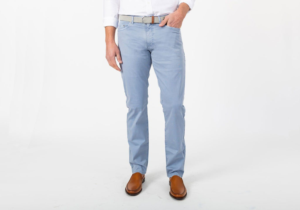 The Dusk Blue Franklin Bedford Stretch Pant Pants- Ledbury