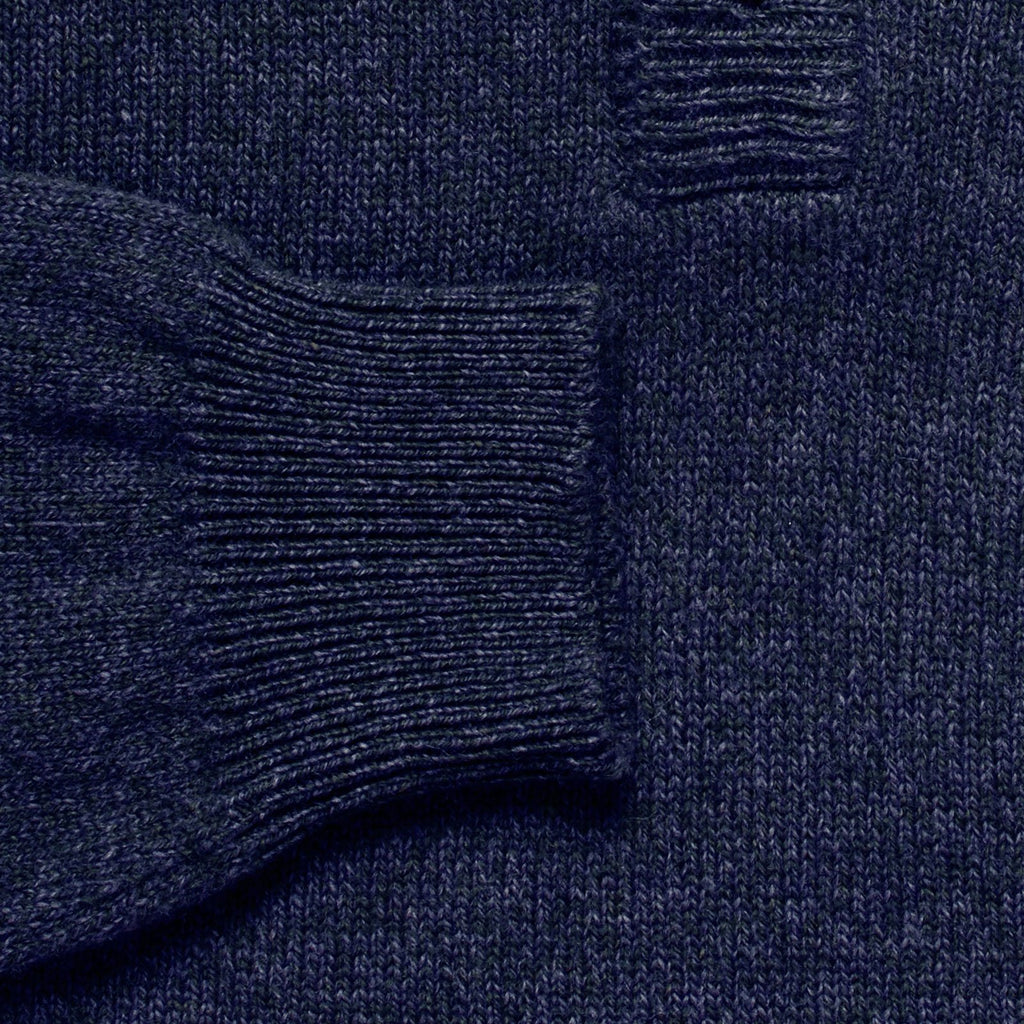 The Navy Heather Brewer Mock Neck Sweater Sweater- Ledbury