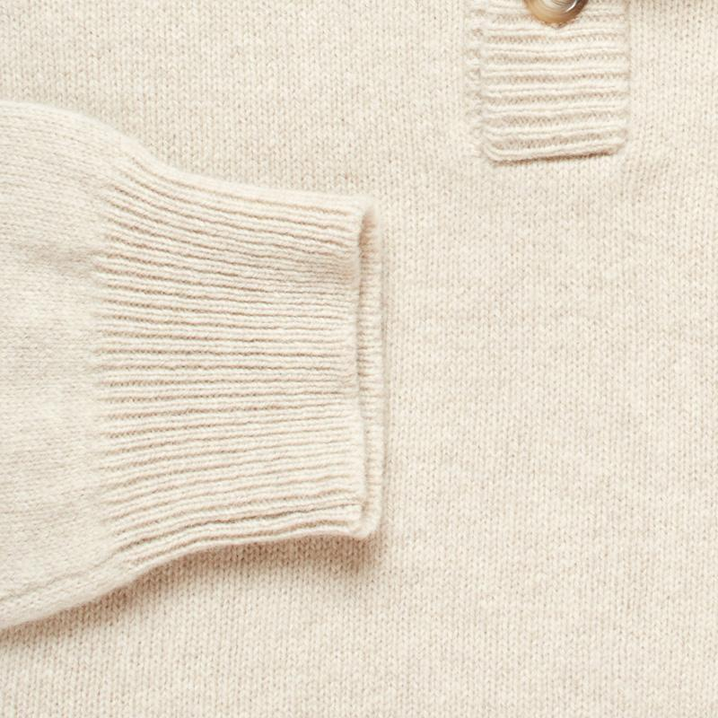 The Camel Heather Brewer Mock Neck Sweater Sweater- Ledbury