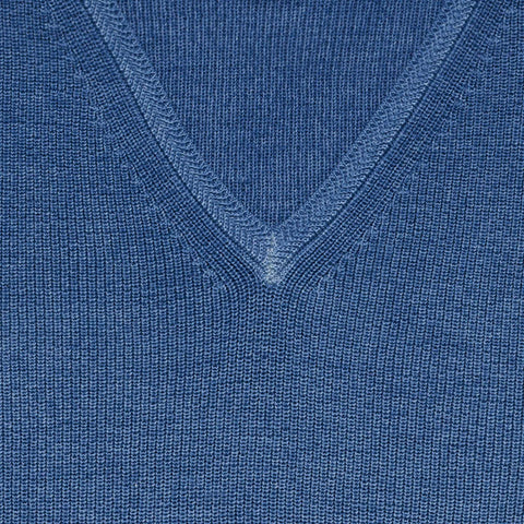 The Cadet Blue Mansfield V-Neck Sweater
