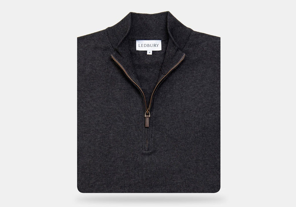 The Charcoal Heather Easterley Half-Zip Sweater Sweater- Ledbury