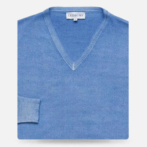 The Blue Alder V-Neck Sweater