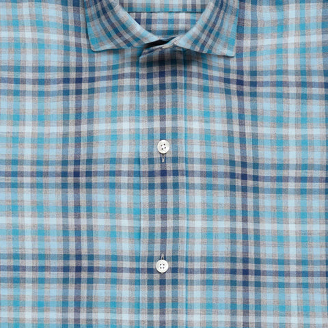 The Grey Heather Griffin Flannel Casual Shirt