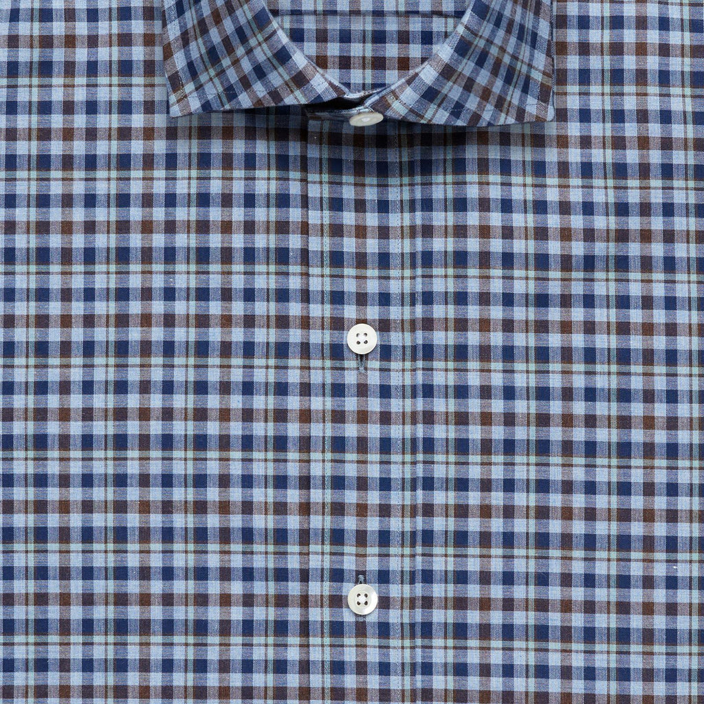 The Blue Logan Heathered Check Casual Shirt