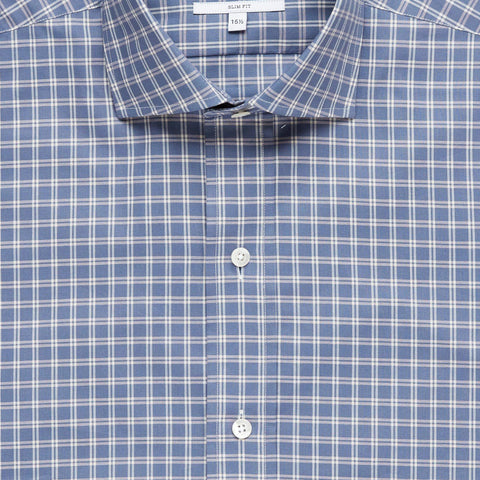 The Cadet Blue Montebello Check Dress Shirt