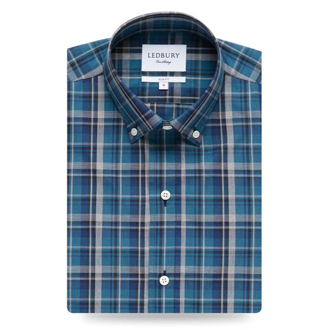 The Dark Blue Lanvale Plaid Casual Shirt