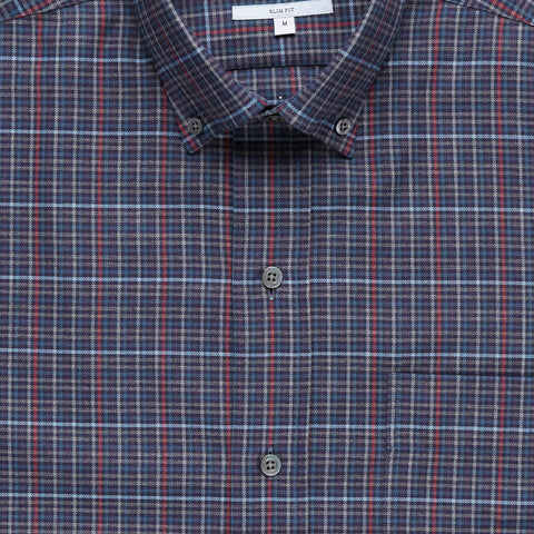 The Navy Palmyra Check Casual Shirt