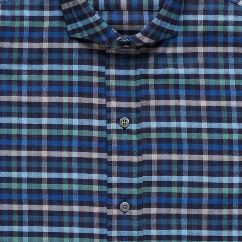 The Navy Linwood Flannel Casual Shirt
