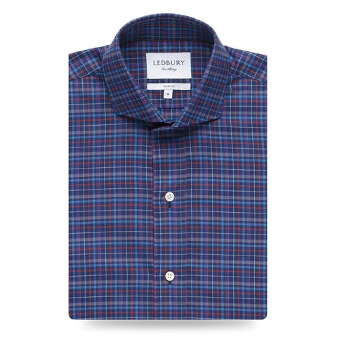 The Navy Rennie Plaid Casual Shirt