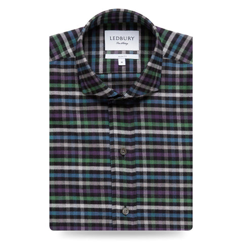 The Deep Purple Linwood Flannel Casual Shirt