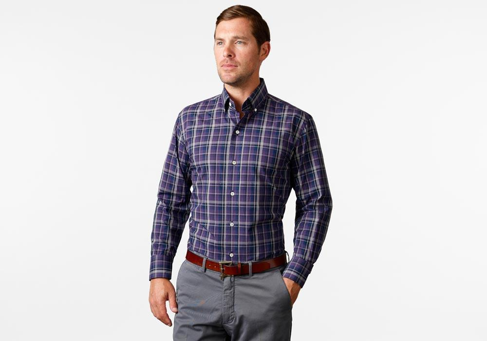 The Deep Purple Lanvale Plaid Casual Shirt