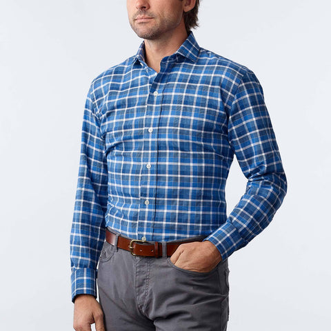 The Blue Shaffer Check Casual Shirt