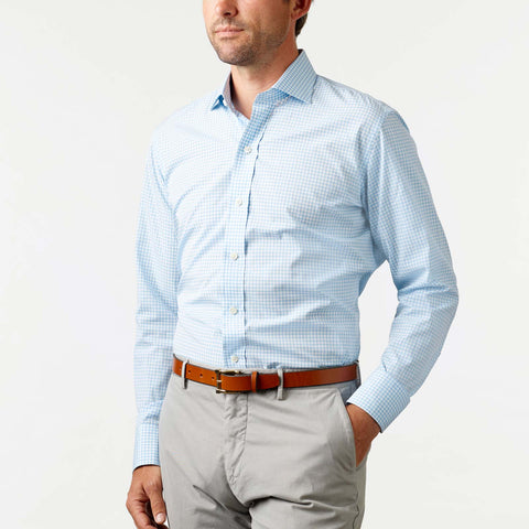 Ledbury | Business Casual Shirt | The Kirby Gingham Dress Shirt