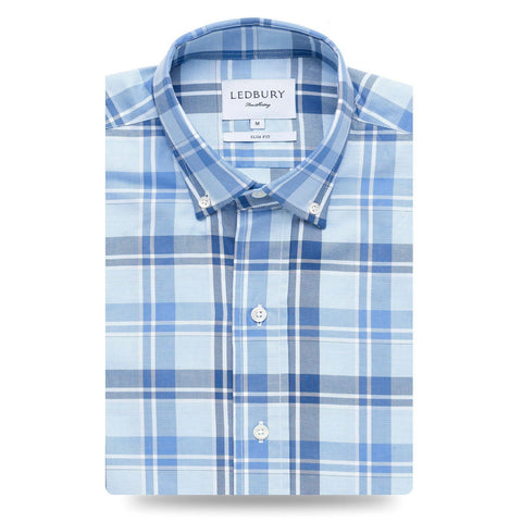 Ledbury | The Blue Guyton Plaid Casual Shirt