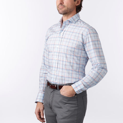 Ledbury | The Blue Talcott Check Dress Shirt