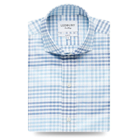 Ledbury | The Blue Edmond Plaid Casual Shirt