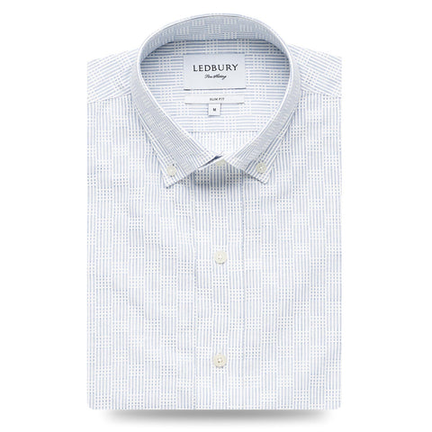 Ledbury | The Blue Tamarack Stripe Casual Shirt