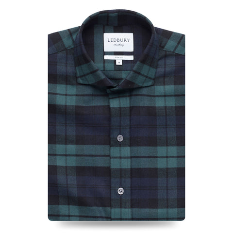 The Navy Gibbs Flannel